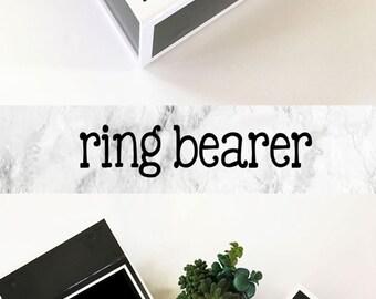 Ring Bearer Gift Box Ring Bearer Proposal Ring Bearer Box Will you be my Ring Bearer Ring Security Ring Man Ideas(EB3193BPW) EMPTY inside