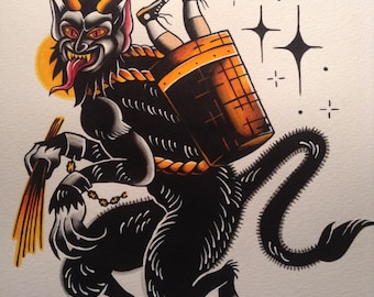 Krampus flash print