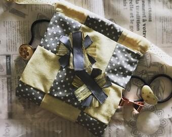 Handmade multipurpose mini bag with mini cheer pom poms