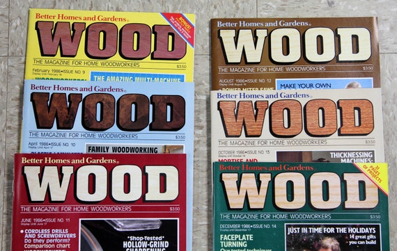 1986 Wood Magazine   Issue No. 9 14   Better Homes And Gardens   Lot Of 6    Vintage Woodworking From DaisydoVintage On Etsy Studio