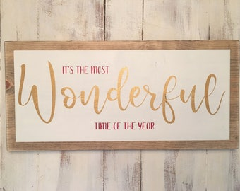 dbc | It's the most wonderful time of the year wood sign