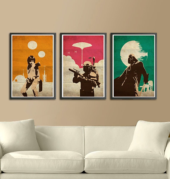 Star Wars Art Posters Wall Art