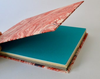 Notebook, Handmade, Marbled Covers, Fabriano Ingres Paper