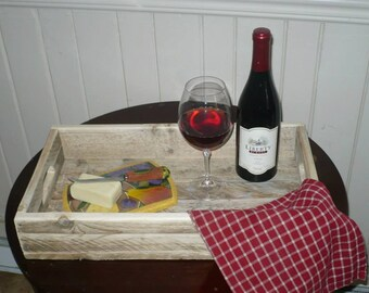 Recycled wooden tray