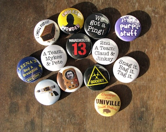 Warehouse 13 - SyFy TV Series - Magnets or Buttons (set of 13)