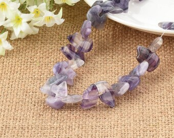 Purple Fluorite Zuni Bear Carved Natural Gemstone 18mm