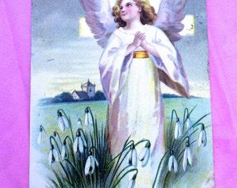Vintage Postcard A Holy Easter ca. 1909 Artist Signed International Art Pub. Co.