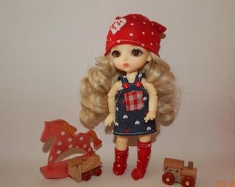 "PukiFee Aquarius Lati Yellow 15-16 сm BJD Set ""Naughty girl"" for dolls of Tiny format"