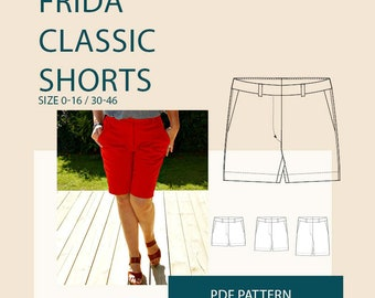Womens shorts PDF pattern/shorts pdf sewing pattern for women /Bermuda shorts pdf pattern/digital short pdf pattern for sewing/ shorts
