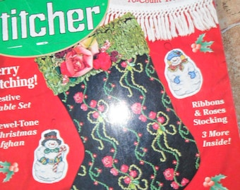 1998 The Cross Stitcher Magazine with 24 Charts