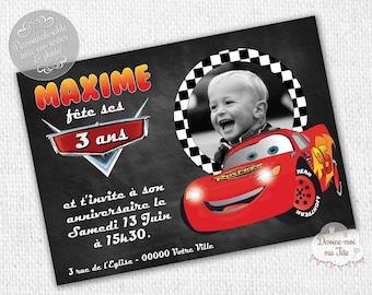"""Slate bus"" personalized birthday invitation - printable personalized Invitation"