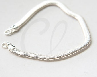 One Piece Premium Silver Plated Hand Linked Finished Chain- Snake 155x4mm (HKSNBD4-09-U-350)