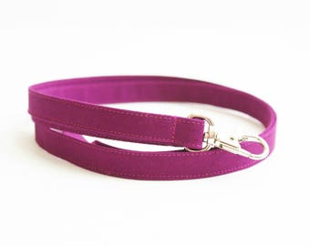Bright Berry Skinny Lanyard - Plain Purple Thin Lanyard  - 1/2 Inch Long Key Lanyard - Cute Purple Strap - Teacher Lanyard - 15.5 - 19.5 In.