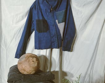 Vintage Patched French Workwear Jacket
