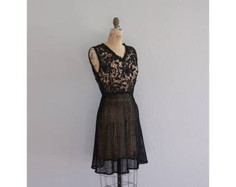 Vintage Black Crochet Dress