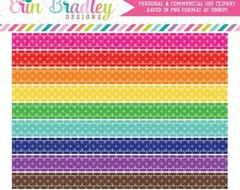 80% OFF SALE Polka Dot Borders Clipart Graphics Instant Download Digital Scrapbooking Clip Art Rainbow Colors