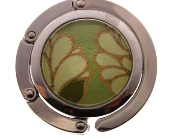 Green Marigold.  Folding Purse Hook.