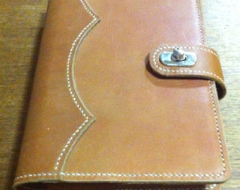 Crescent Moon A5 Chestnut Leather Diary Cover