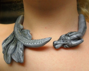 Daenerys Targaryen Dragon Necklace - Khaleesi Collar Necklace- Game of Thrones