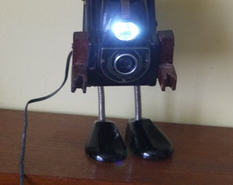 1950's Ensign Ful-View Camera Robot Light 12v Steampunk