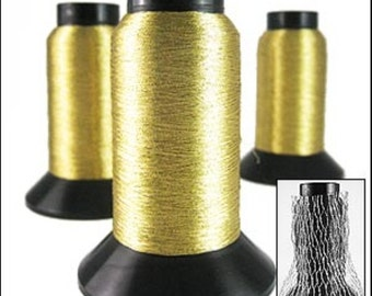 Embroidery thread. Pale Gold lurex thread 1000m JR04924