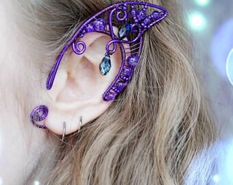 Faery ears, Elven ears, Faery ear cuffs, Elf ears, Dragon Lady