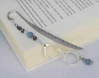 "vintage bookmark "" Glasses "" silver / gift for reader /gift for him / gift for her / gift under 20"