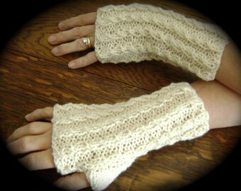 Pdf BABY CABLE FINGERLESS Glove Pattern