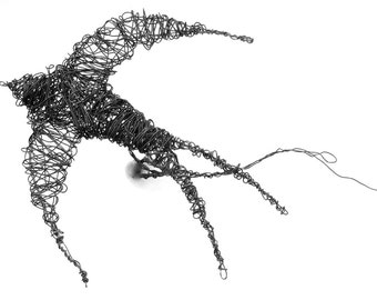 Wire Swallow Sculpture Tutorial and Template PDF