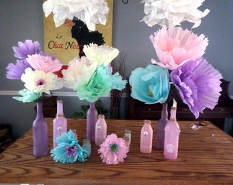 Flat paper flowers etsy more colors large tissue paper flowers mightylinksfo