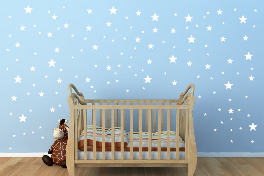 White Star Wall Decals3size star decals for walls135 pieces
