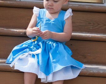 Boutique Quality Handmade Everyday Princess Cinderella Inspired Dress sizes newborn - girls 8