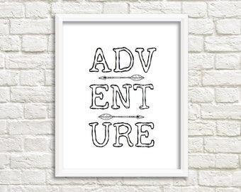 Adventure print with arrows