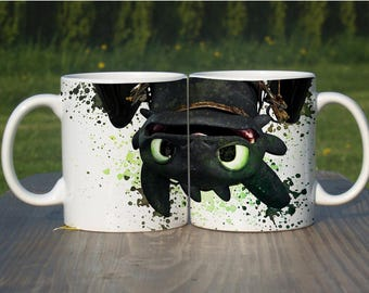 How To Train Your Dragon Toothless Watercolor Coffee Mug Tea Cup Color Changing Heat Magic Mug Unique Design Gift Ceramic 11oz,M264
