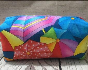 Beach Umbrella Boxy Pouch (medium size)