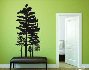 Pine Tree Group Wall Decals Custom Home Decor