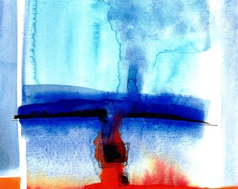 Watercolor Abstraction 126 .. Original abstract watercolor painting by Kathy Morton Stanion EBSQ