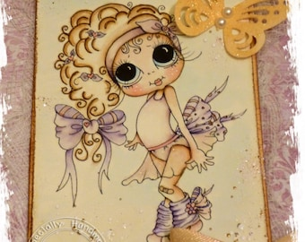 INSTANT DOWNLOAD Digi Stamps Big Eye Big Head Dolls Digi Bestie IMG168 By Sherri Baldy