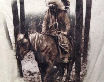 The Journey Home Native American on horseback T Shirt