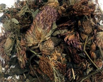 Organic Whole Red Clover Blossoms ROUGH CUT Herbal tea 4 oz