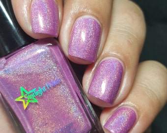 Angel Face Lavender Holographic Rose Romance Purple Holo Indie Nail Lacquer Starlight Polish