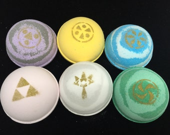 Legend of Zelda: Ocarina of Time Inspired Bath Bomb Set WITH Charms Inside!
