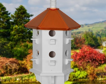 Purple Martin Birdhouse, Copper Roof Birdhouses, Painted Bird Houses, Fathers Day Gifts, Handcrafted Bird Houses