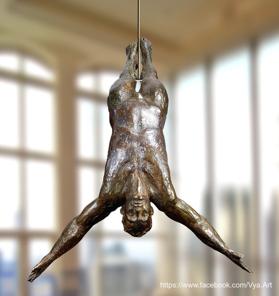 Diver Wall Sculpture Wall Art Sculpture Bronze Home Decor Wall