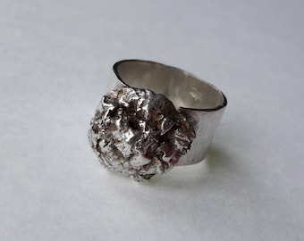 Chunky Melted Band Recycled Sterling Silver Ring