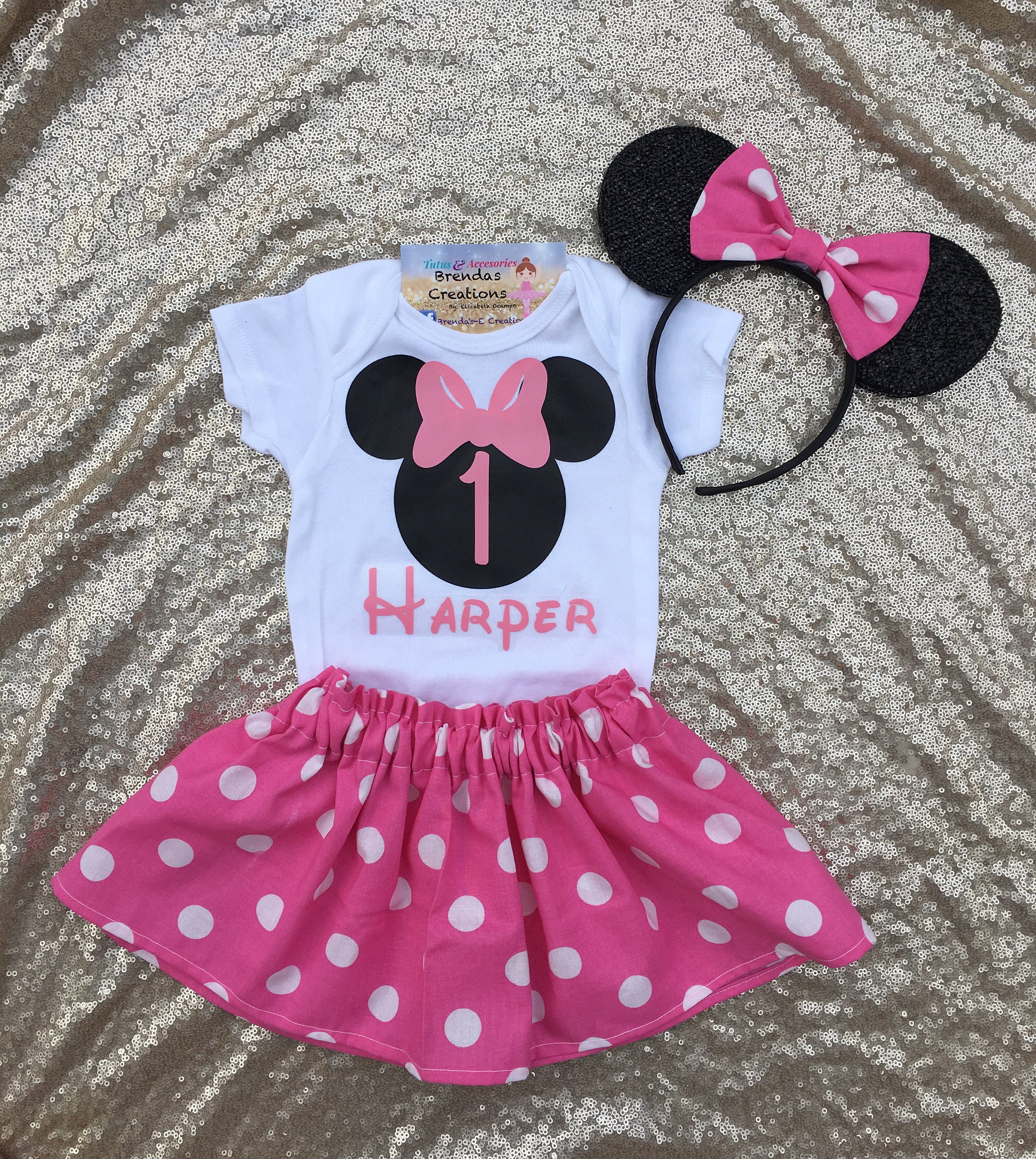 Minnie Mouse Geburtstags-Outfit Minnie Mouse ersten