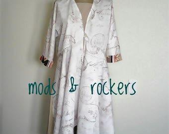 Women's Kimono Jacket // Size Large // Sustainable Fashion // Mods & Rockers Fashions