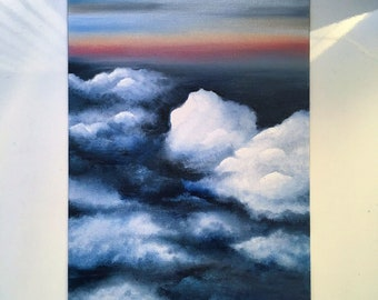 Swim This Sky With Me Oil Painting