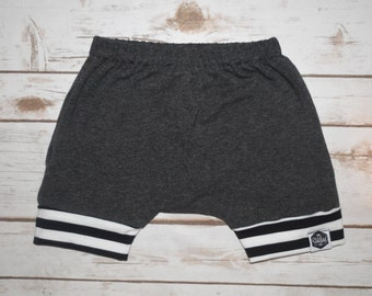 Basic Dark Gray Harem Shorts