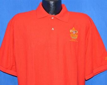 90s Boy Scouts Class B Uniform Polo Shirt Large